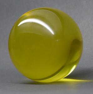 Acrylball - Kristall 100 mm - Gelb