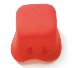 Clownsnase - Gummi | viereckig | rot