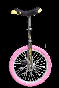 Qu-ax Luxus Einrad - Chrom mit farbigem Reifen - 20 Zoll