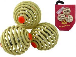 Set aus drei Fyrefli Feuerjonglierbällen - 80 mm