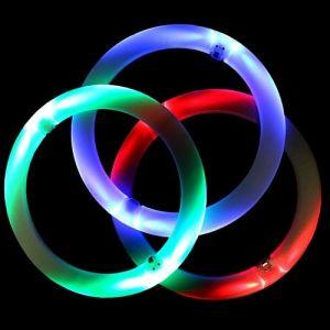 Set aus 3 LED Jonglierringen 3 Farben
