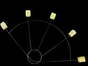 Feuerfächer Fire Fan mit 5 Fackeln pro Paar
